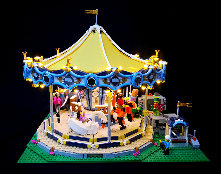 Review LED Ligh for LEGO 10257 The Expert Carousel6 - Bricks Delight