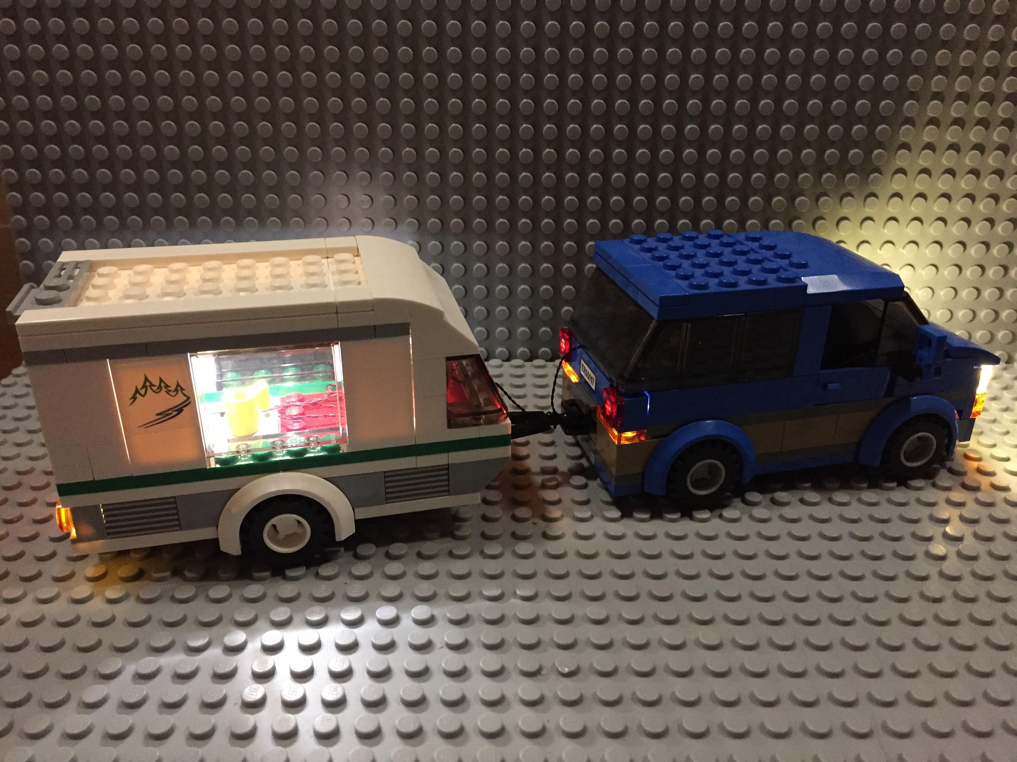 Review LED Light Kit for LEGO 60117 City Car Caravan4 - Bricks Delight