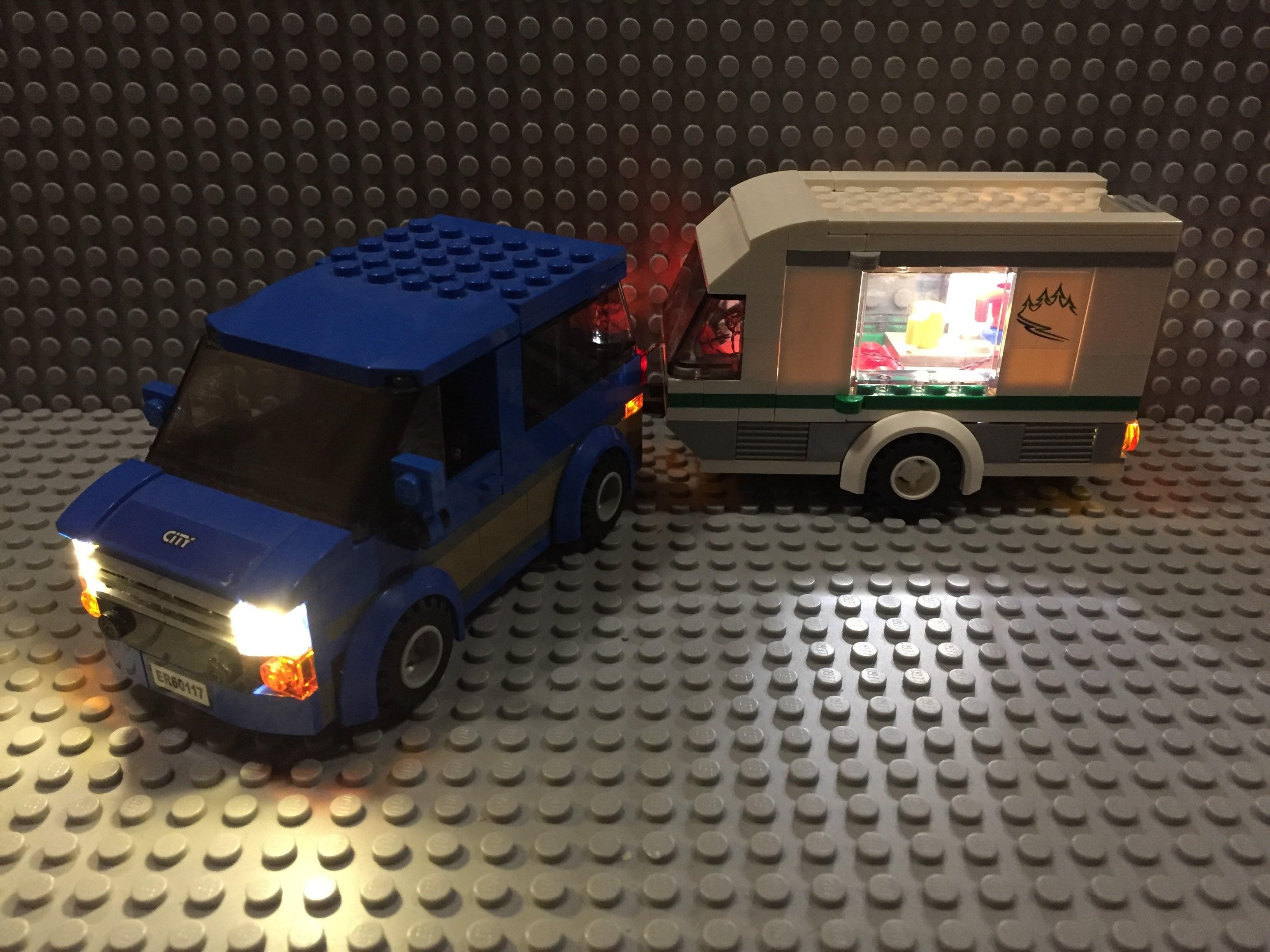 Review LED Light Kit for LEGO 60117 City Car Caravan6 - Bricks Delight