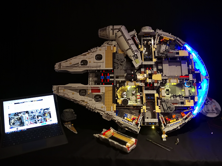 Review LED Light for LEGO Star Wars UCS Millennium Falcon 75192 6 - Bricks Delight