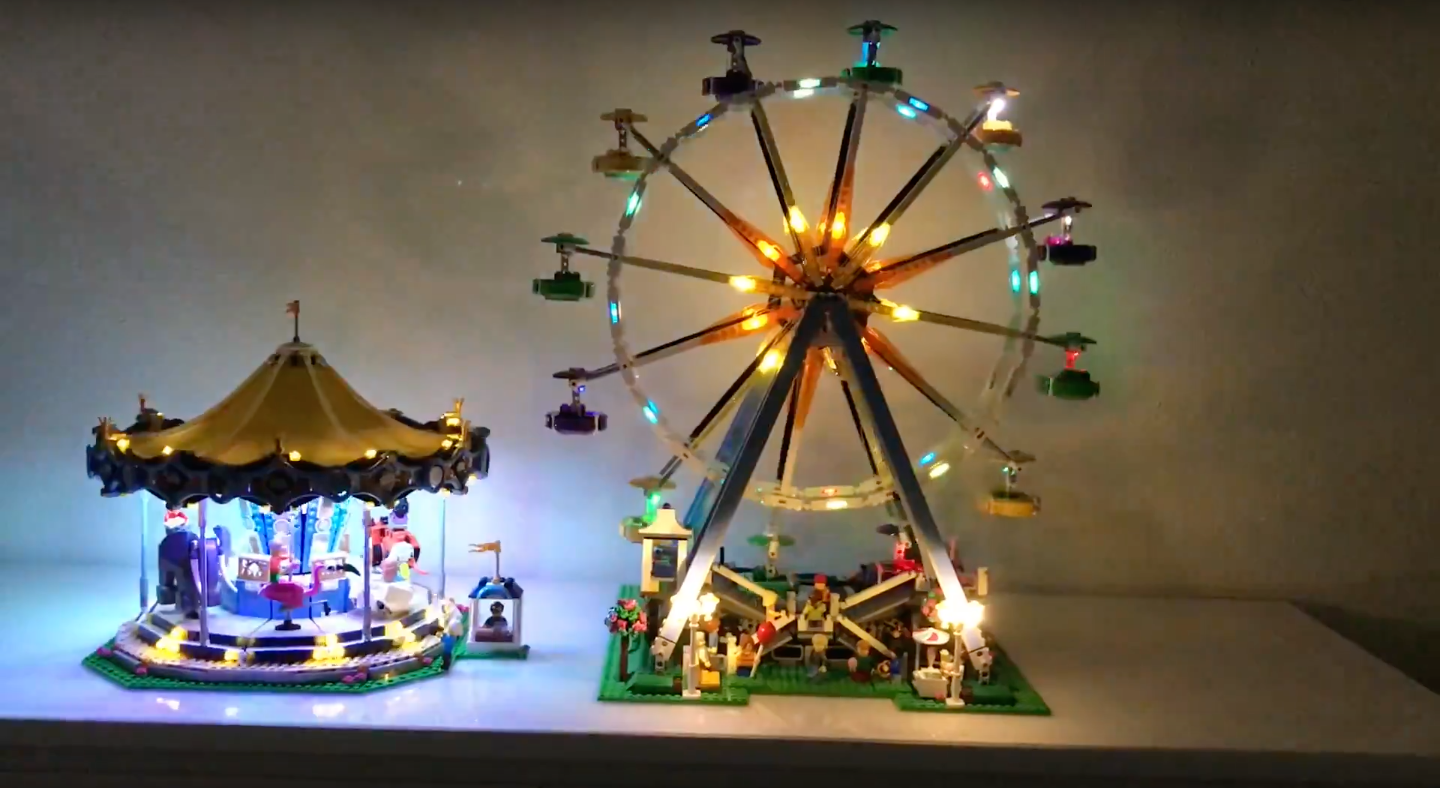 Review LED Light for LEGO FERRIS WHEEL 10247 5 - Bricks Delight