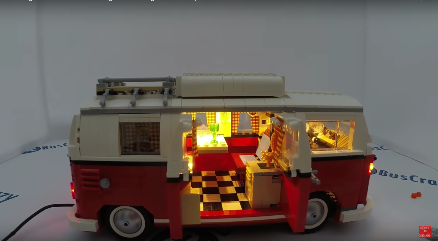 Review LED Light for LEGO VOLKSWAGEN T1 CAMPER VAN 4 1 - Bricks Delight