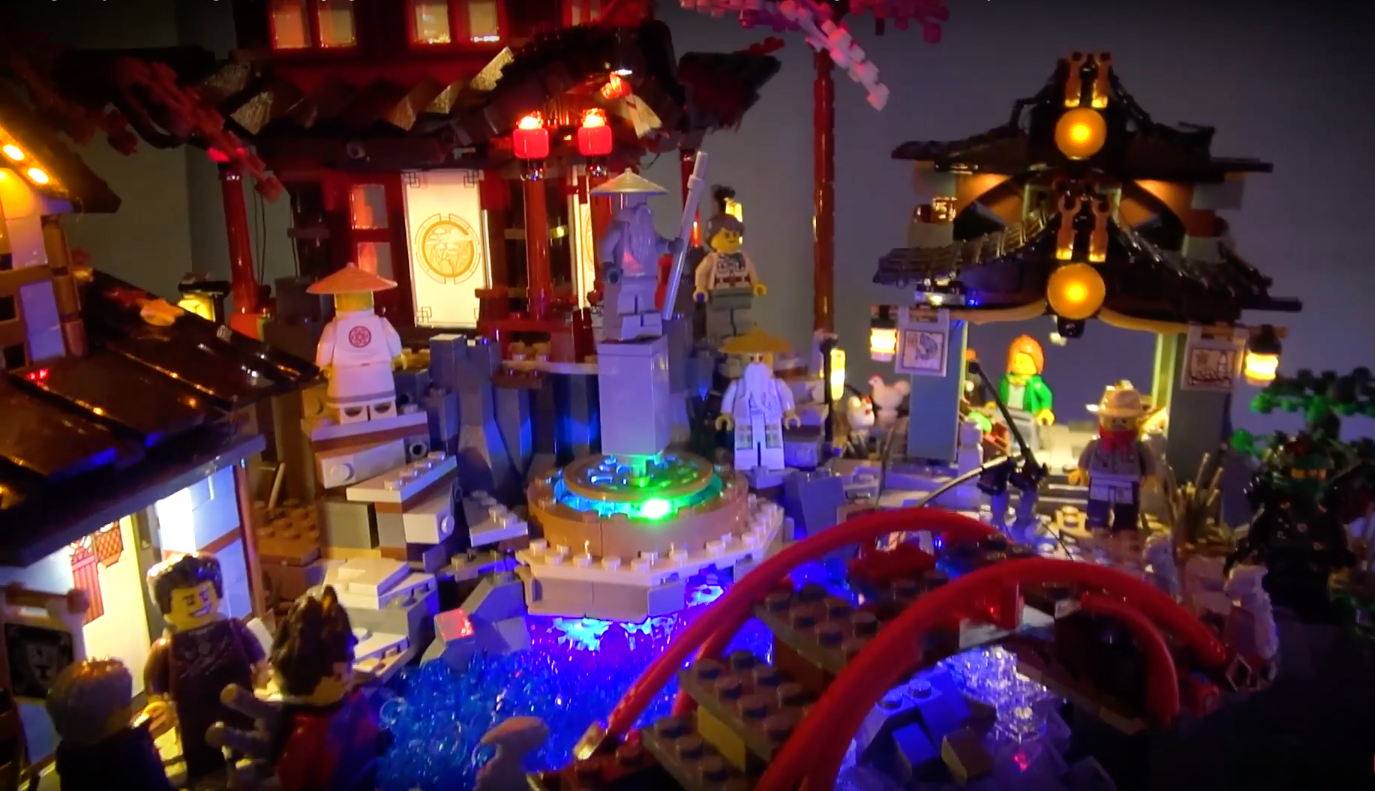 Lego 70751 Temple Of Airjitzu And Lego 70657 Ninjago City Docks 6
