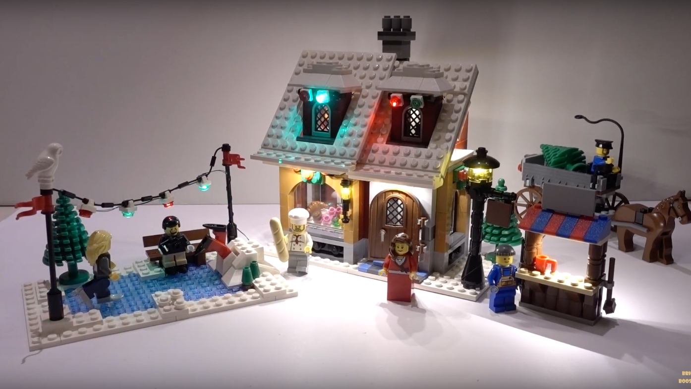 Review Led Light For Lego 10216 Winter Village Bakery1