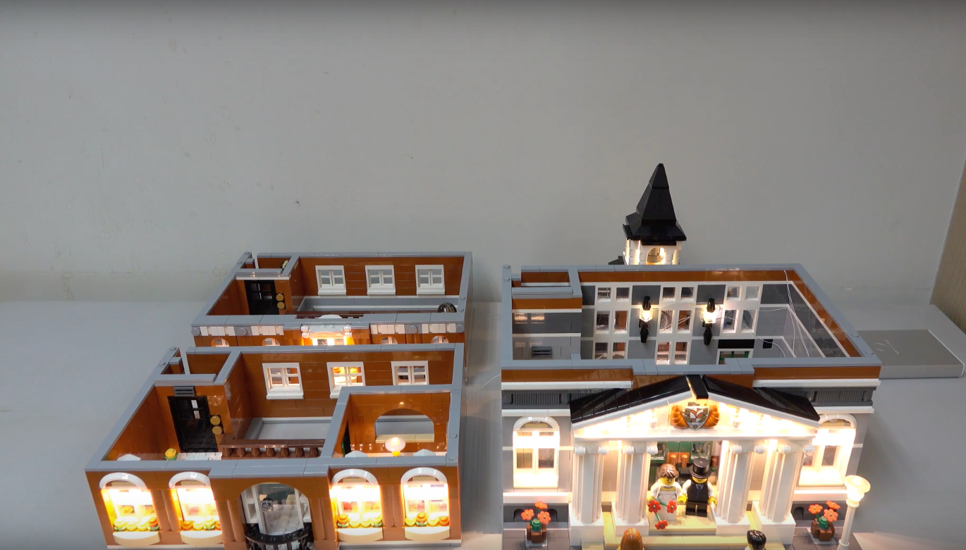 Review Led Light For Lego 10224 Town Hall7