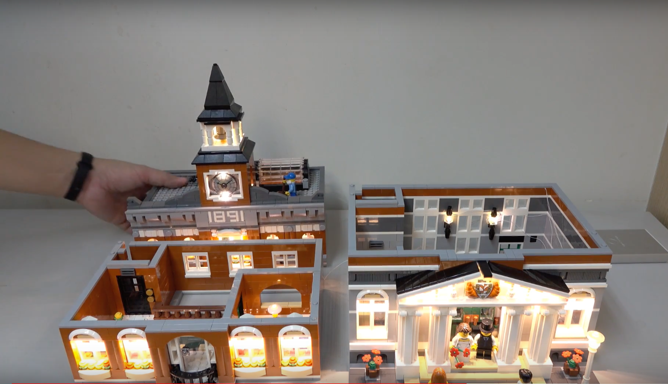Review Led Light For Lego 10224 Town Hall8
