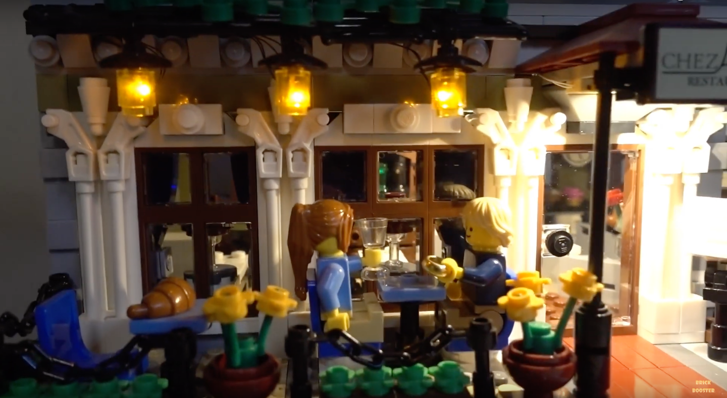 Review Led Light For Lego 10243 Parisian Restaurant 1