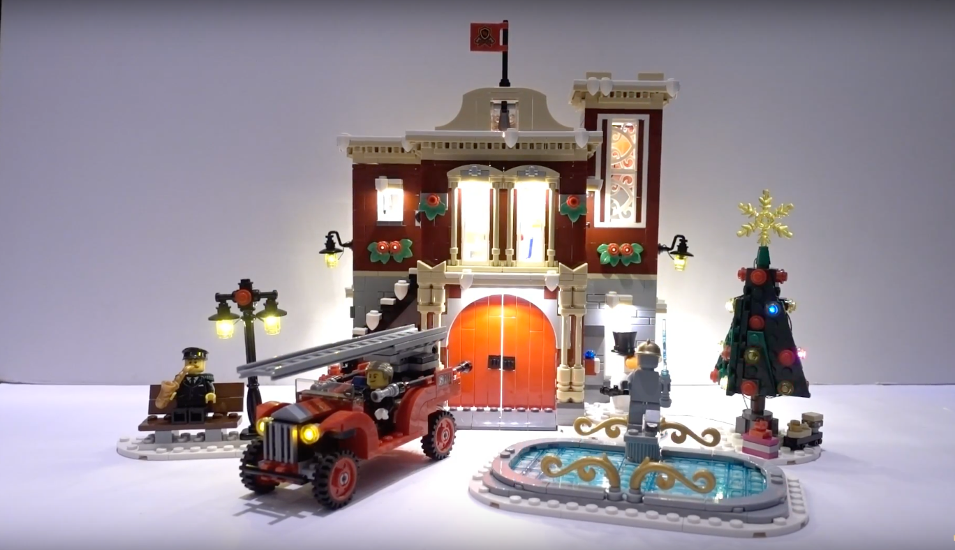 Review Led Light For Lego 10263 Winter Village Fire Station 1