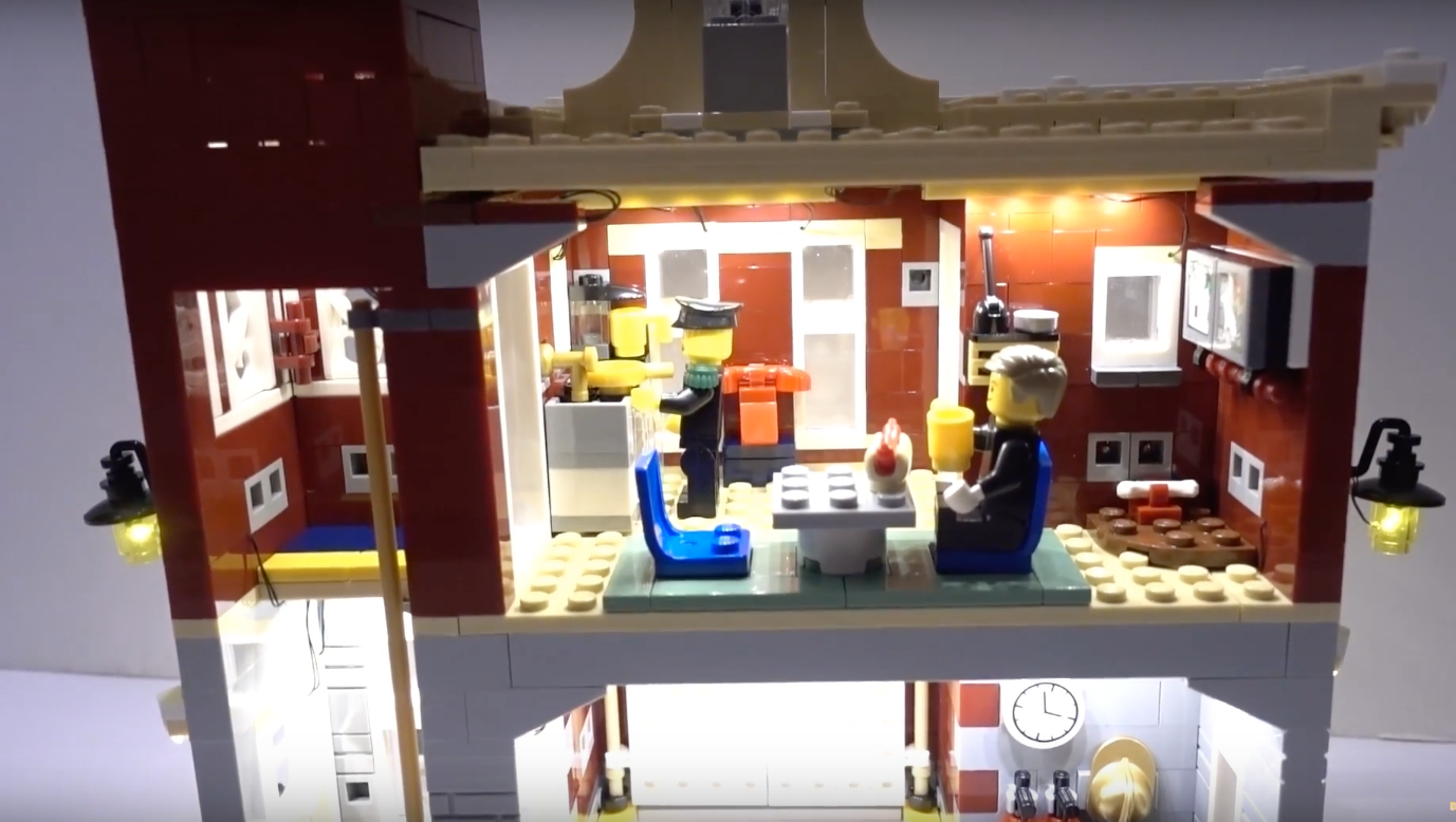 Review Led Light For Lego 10263 Winter Village Fire Station 5