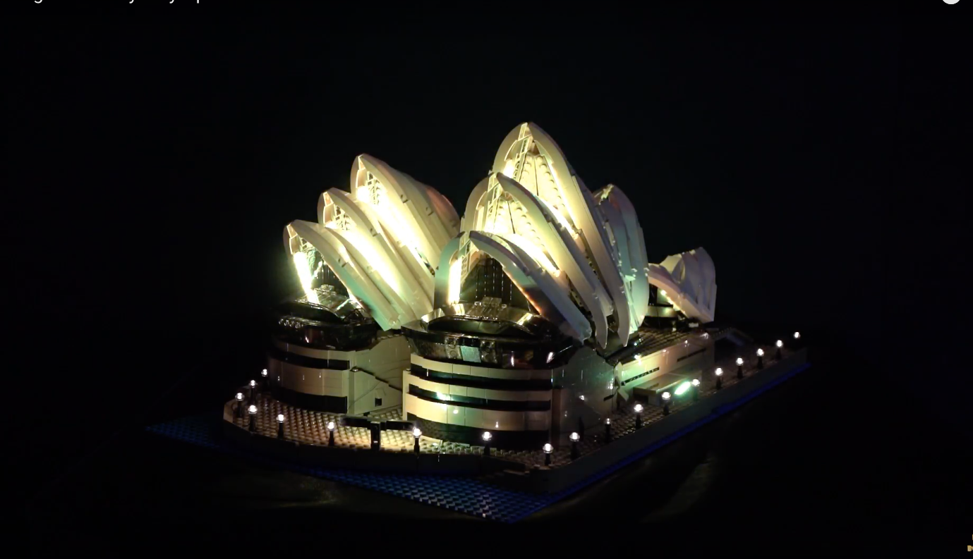 Review Led Light For Lego Sydney Opera House 6