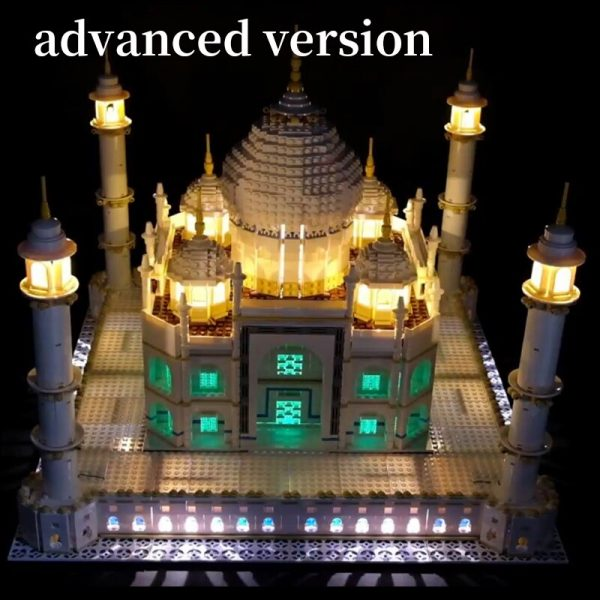 LED Light Kit for lego 10189 10256 and 17001 17008 The taj mahal Building Blocks Bricks - Bricks Delight