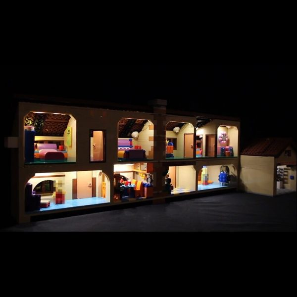 LED Light Kit for lego 71006 Compatible 16005 Simpson s house building blocks Bricks Toys Gifts 2 - Bricks Delight
