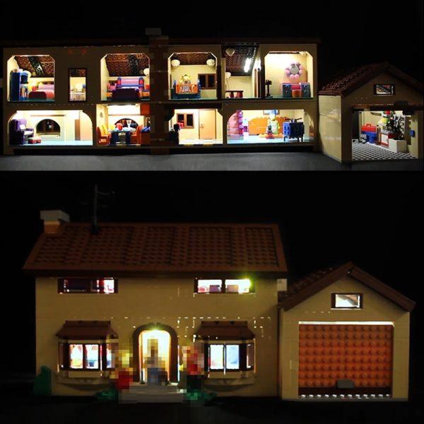 LED Light Kit for lego 71006 Compatible 16005 Simpson s house building blocks Bricks Toys Gifts - Bricks Delight
