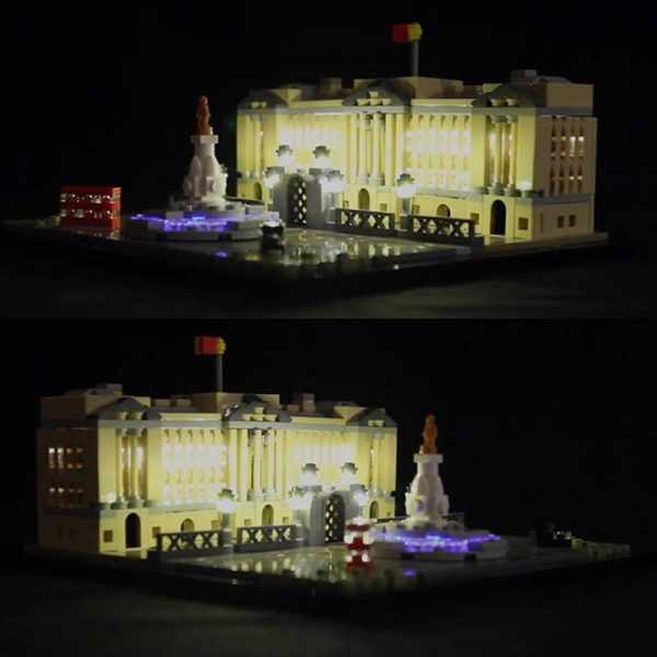 LED light for lego 21029 Architecture Series Buckingham Palace Building Blocks Bricks Toys Gifts only light - Bricks Delight