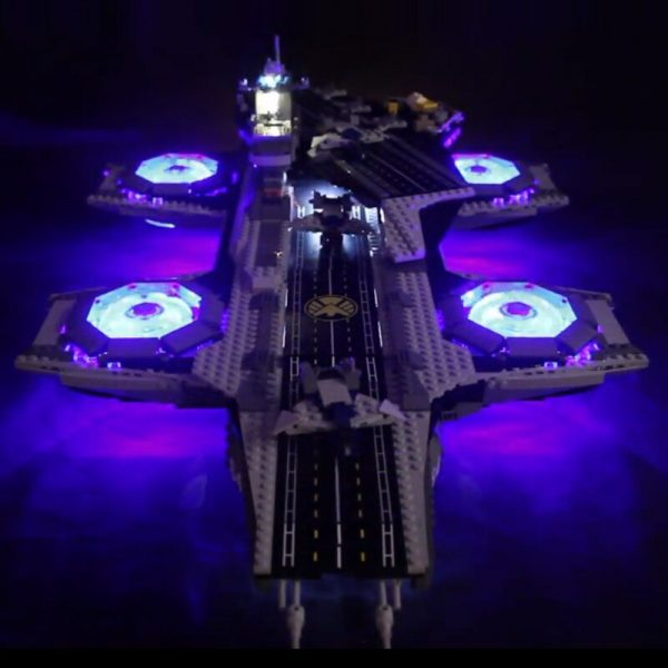 LED light up kit for lego 76042 Super Heroes The Shield Helicarrier Compatible 07043 Building Blocks 1 - Bricks Delight