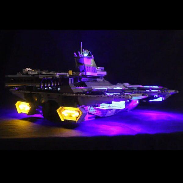 LED light up kit for lego 76042 Super Heroes The Shield Helicarrier Compatible 07043 Building Blocks 2 - Bricks Delight