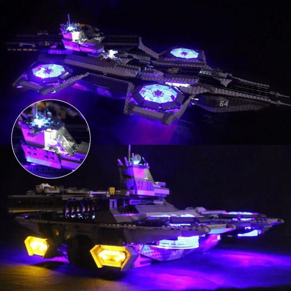LED light up kit for lego 76042 Super Heroes The Shield Helicarrier Compatible 07043 Building Blocks - Bricks Delight