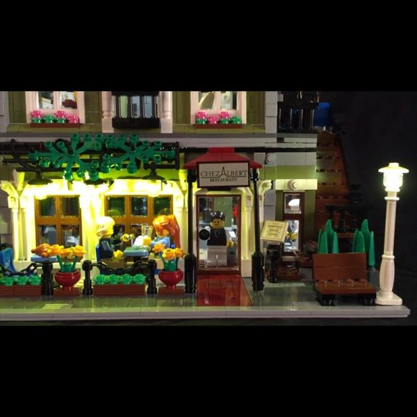 Led Light For Lego 10243 Building Blocks City Street Compatible 15010 Creator Parisian Restaurant Toys light - Bricks Delight
