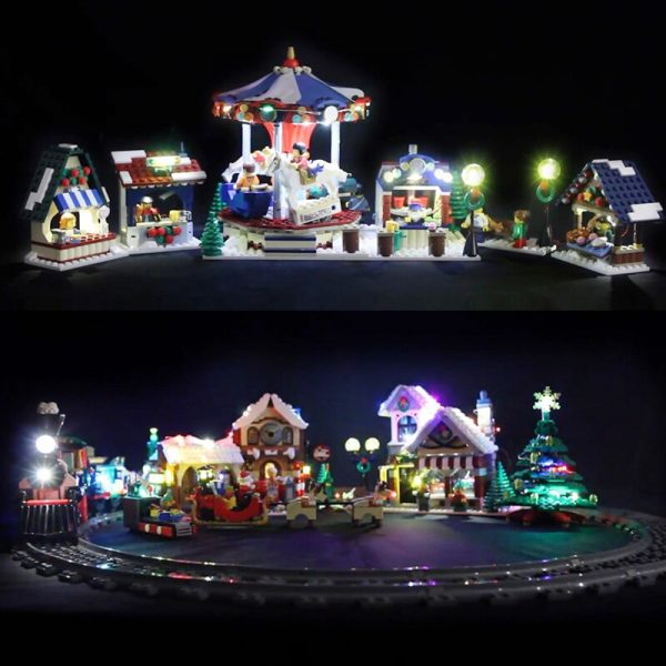 Led Light For Lego 10254 Creator City Christmas Winter Holiday Train Compatible 36001 Building Blocks only 3 - Bricks Delight