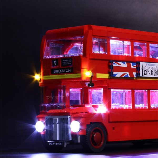 Led Light For Lego 10258 London bus Building bricks Compatible 21045 Creator City technic Blocks Toys 2 - Bricks Delight