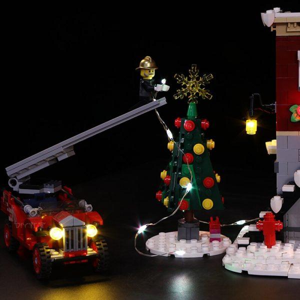 Led Light For Lego 10263 Creator Winter Village Fire Station Compatible 36014 Building Blocks Toys Gifts 1 - Bricks Delight