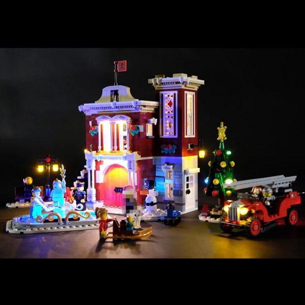 Led Light For Lego 10263 Creator Winter Village Fire Station Compatible 36014 Building Blocks Toys Gifts - Bricks Delight