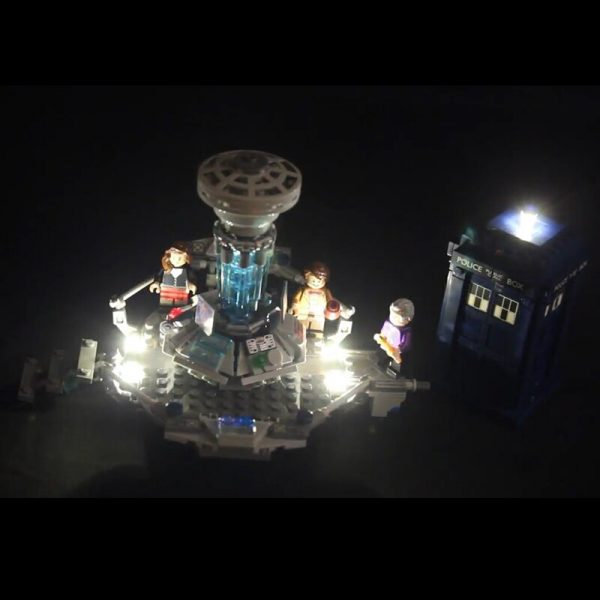 Led Light For Lego 21304 Building Bricks Blocks Creator City Dr Who Time travel with the 1 - Bricks Delight