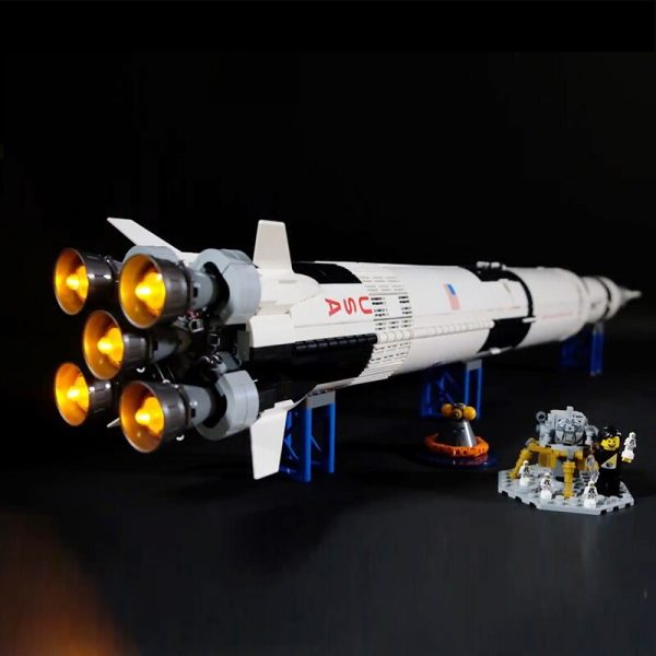 Led Light For Lego 21309 Creative The Apollo Saturn V Launch Vehicle Building Blocks Compatible 16032 1 - Bricks Delight