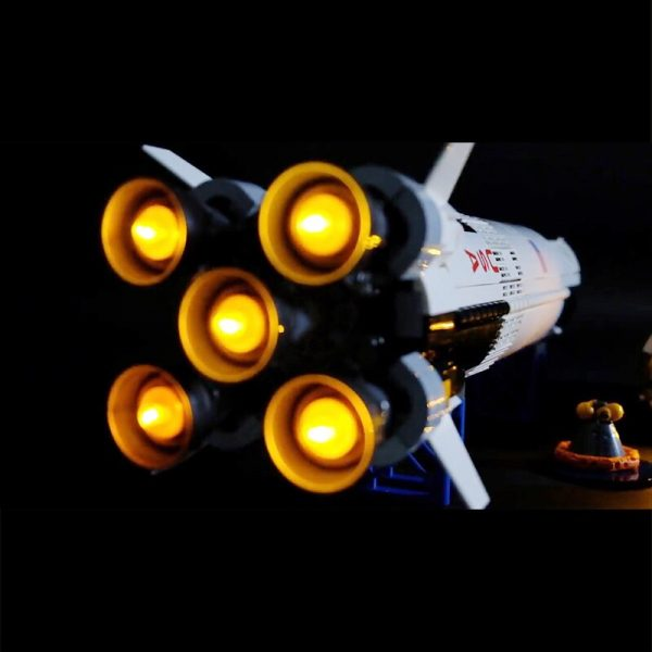 Led Light For Lego 21309 Creative The Apollo Saturn V Launch Vehicle Building Blocks Compatible 16032 2 - Bricks Delight