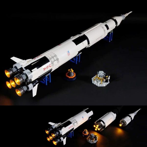 Led Light For Lego 21309 Creative The Apollo Saturn V Launch Vehicle Building Blocks Compatible 16032 - Bricks Delight