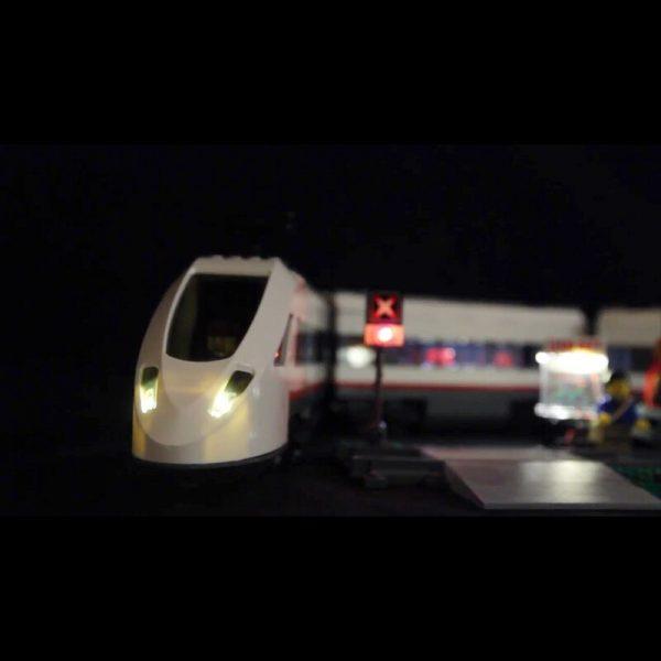 Led Light For Lego 60051 Building Bricks Blocks Compatible 02010 Cities High speed passenger Train Toys 1 - Bricks Delight