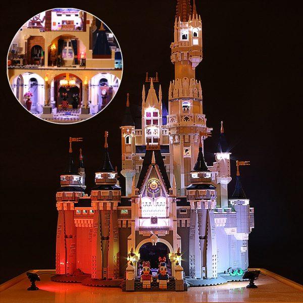 Led Light For Lego 71040 Creative City Cinderella Princess Castle Compatible 16008 Building Blocks Toys only - Bricks Delight