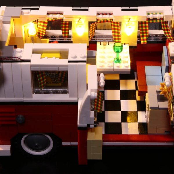 Led Light Set For Lego 10220 Compatible 21001 Creator Volkswagen T1 Camper Van Building Blocks Bricks 2 - Bricks Delight