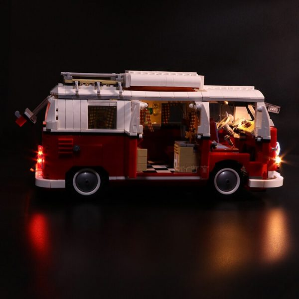 Led Light Set For Lego 10220 Compatible 21001 Creator Volkswagen T1 Camper Van Building Blocks Bricks 3 - Bricks Delight