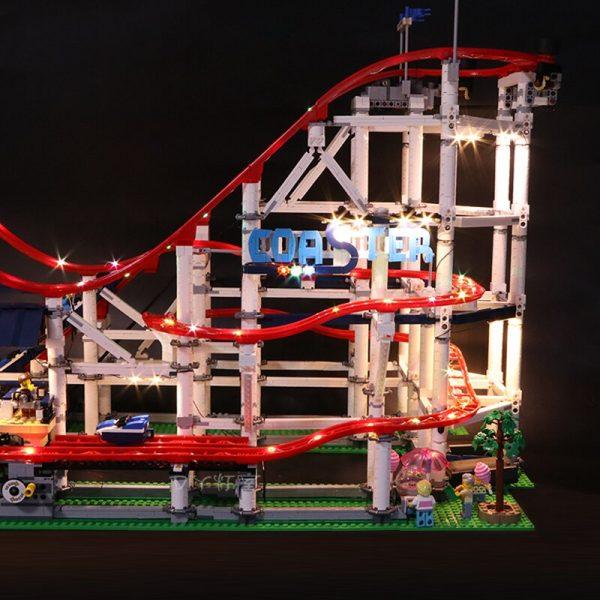 Led Light Set For Lego 10261 The roller coaster Compatible 15039 city creator Building Blocks Bricks 1 - Bricks Delight