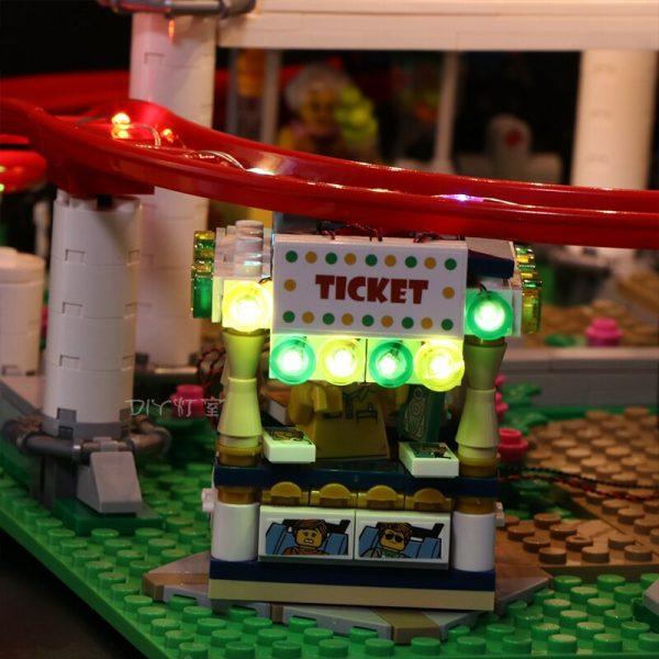 Led Light Set For Lego 10261 The roller coaster Compatible 15039 city creator Building Blocks Bricks 3 - Bricks Delight