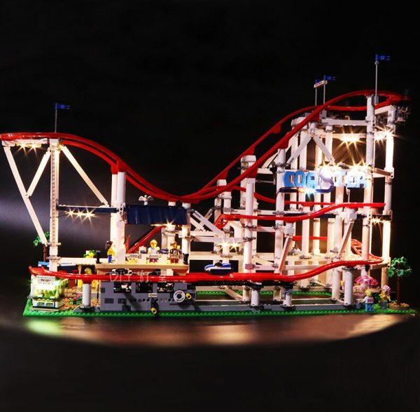 Led Light Set For Lego 10261 The roller coaster Compatible 15039 city creator Building Blocks Bricks - Bricks Delight