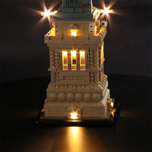 Led Light Set For Lego 21042 Compatible 17011 Statue of Liberty Building Block Toys for Children - Bricks Delight