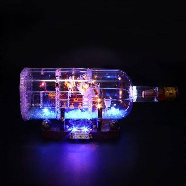 Led Light Set For Lego 21313 Ideas Serie Compatible 16051 creator ship in a Bottle Building 1 - Bricks Delight