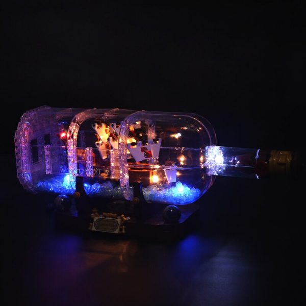 Led Light Set For Lego 21313 Ideas Serie Compatible 16051 creator ship in a Bottle Building 2 - Bricks Delight