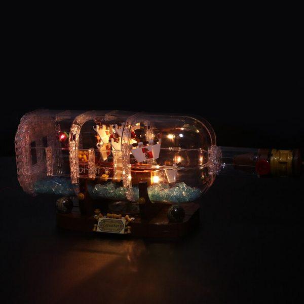 Led Light Set For Lego 21313 Ideas Serie Compatible 16051 creator ship in a Bottle Building 3 - Bricks Delight