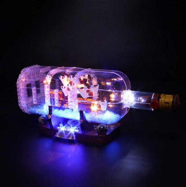 Led Light Set For Lego 21313 Ideas Serie Compatible 16051 creator ship in a Bottle Building - Bricks Delight