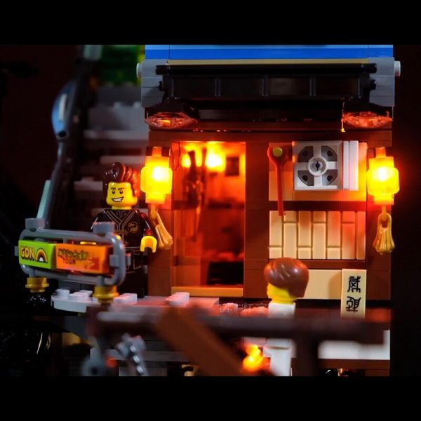 Led Light Set For Lego 70657 Compatible 06083 Ninjagoing City Docks Set Building Blocks Bricks Toys 2 - Bricks Delight