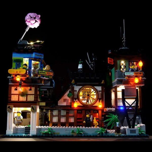 Led Light Set For Lego 70657 Compatible 06083 Ninjagoing City Docks Set Building Blocks Bricks Toys - Bricks Delight