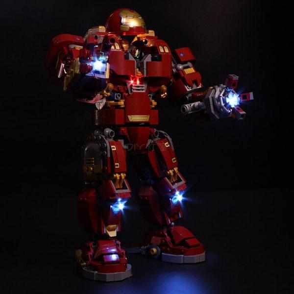 Led Light Set For Lego 76105 Compatible 07101 the Iron Man Hulkbuster Set Building Blocks Bricks 1 - Bricks Delight