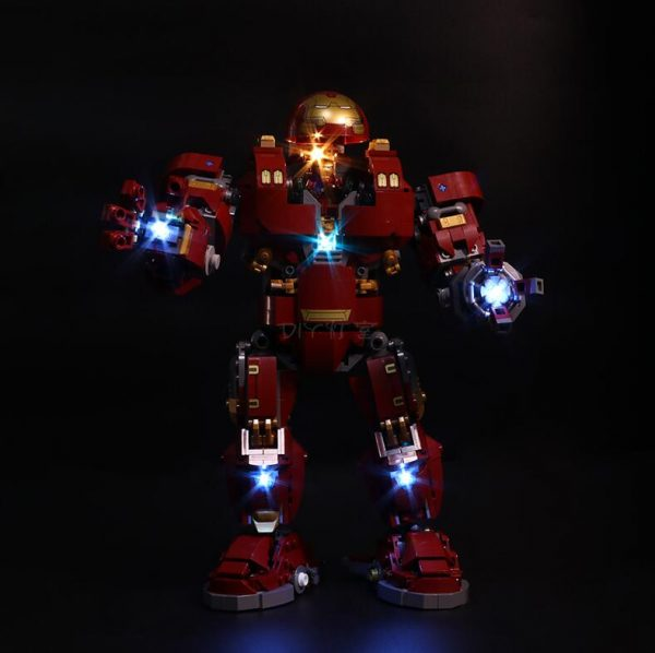 Led Light Set For Lego 76105 Compatible 07101 the Iron Man Hulkbuster Set Building Blocks Bricks 3 - Bricks Delight
