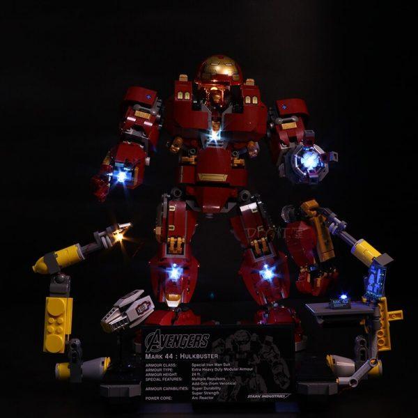 Led Light Set For Lego 76105 Compatible 07101 the Iron Man Hulkbuster Set Building Blocks Bricks - Bricks Delight