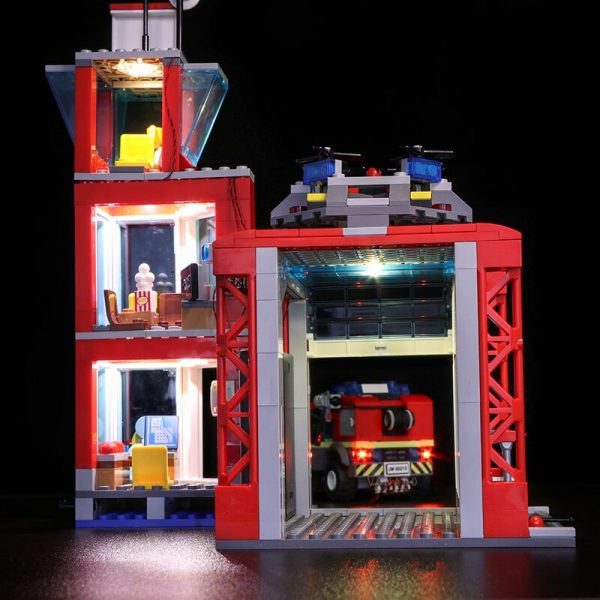 Led light for LEGO 60216 CITY 19 year city new city fire rescue team City series 1 - Bricks Delight