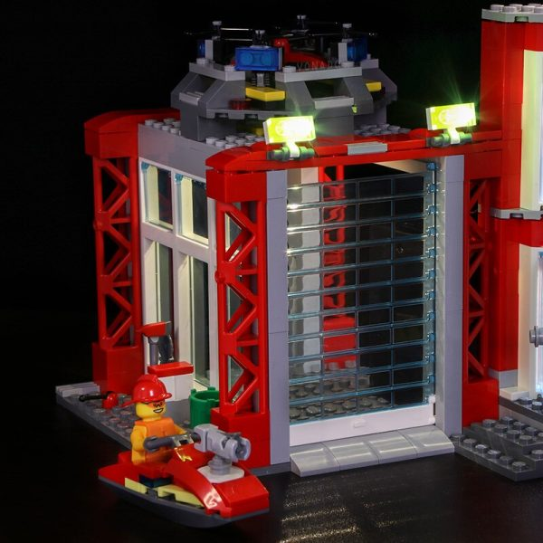 Led light for LEGO 60216 CITY 19 year city new city fire rescue team City series 2 - Bricks Delight