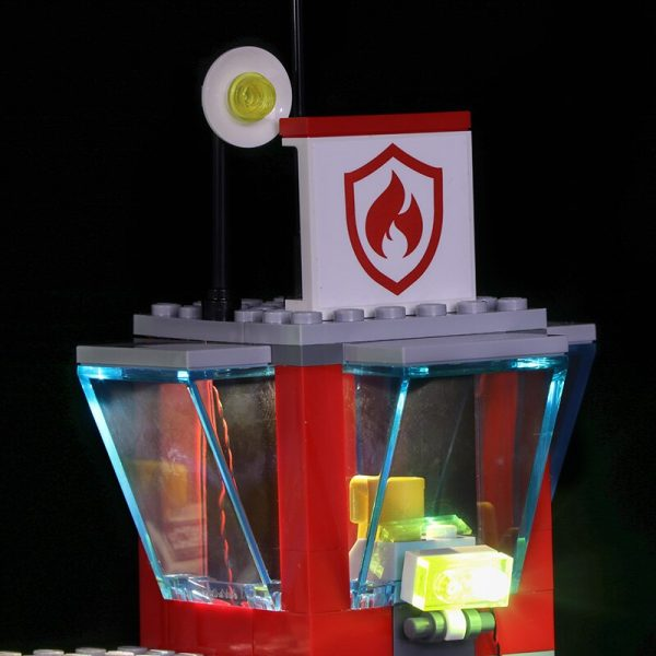 Led light for LEGO 60216 CITY 19 year city new city fire rescue team City series 3 - Bricks Delight